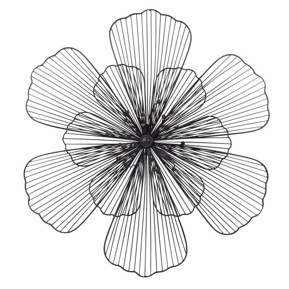 decoration murale fleur en metal. Black Bedroom Furniture Sets. Home Design Ideas