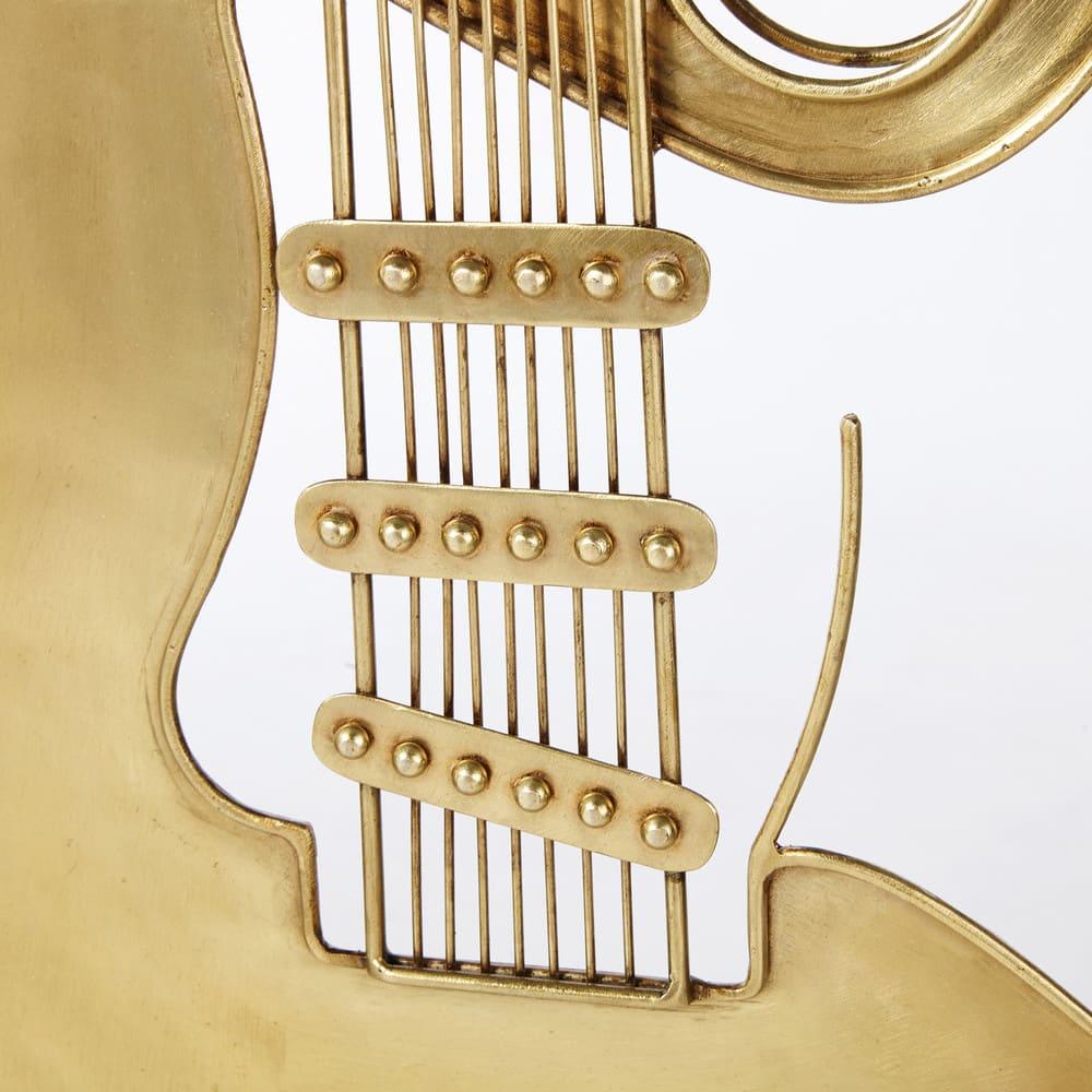 Déco Murale Guitare En Métal Doré 34x100 Rock Star Maisons Du Monde