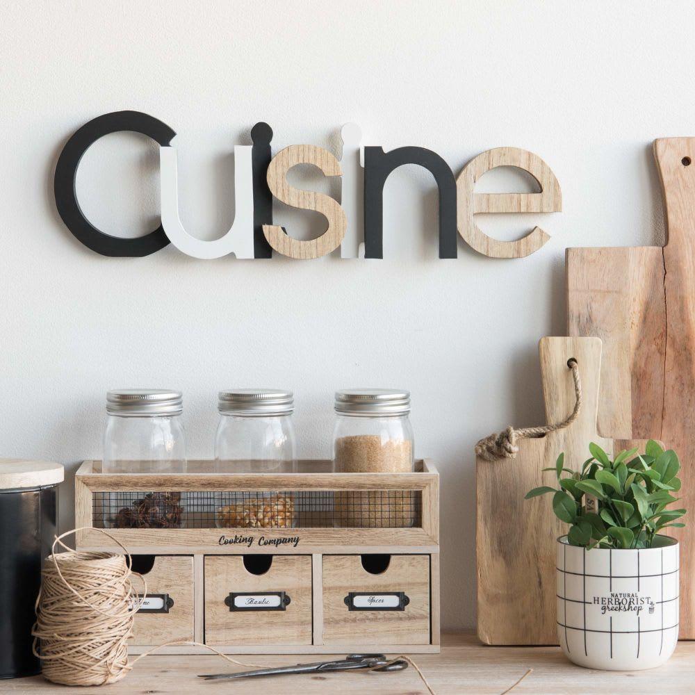 d co murale mot l48 cuisine maisons du monde. Black Bedroom Furniture Sets. Home Design Ideas