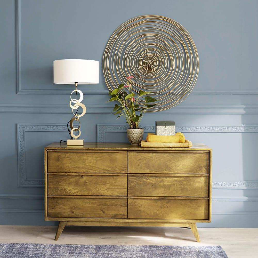 d co murale spirale en m tal dor d91 jill maisons du monde. Black Bedroom Furniture Sets. Home Design Ideas