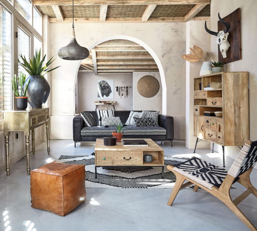 d co murale t te de buffle 69x32 zambie maisons du monde. Black Bedroom Furniture Sets. Home Design Ideas