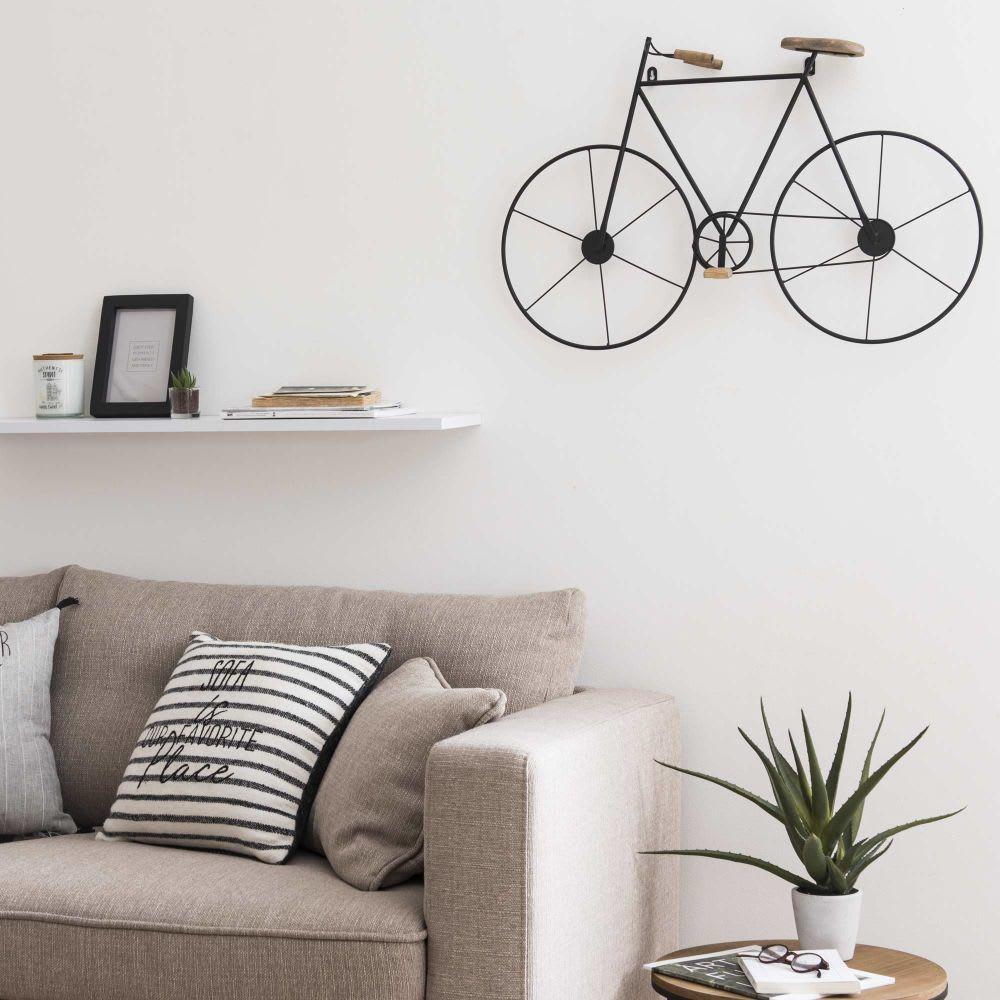 d co murale v lo en sapin et m tal noir maisons du monde. Black Bedroom Furniture Sets. Home Design Ideas