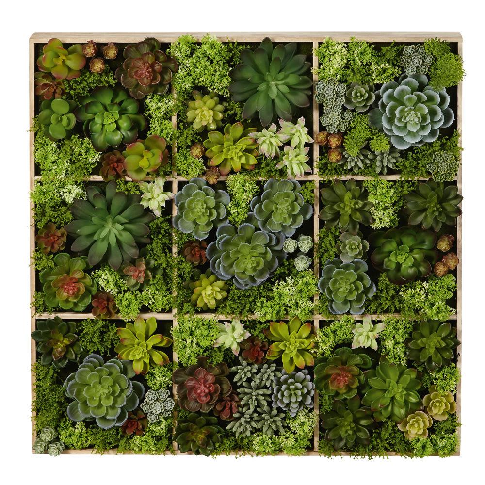 Decoracion De Pared Con Plantas Artificiales 17x70 Flavie Maisons