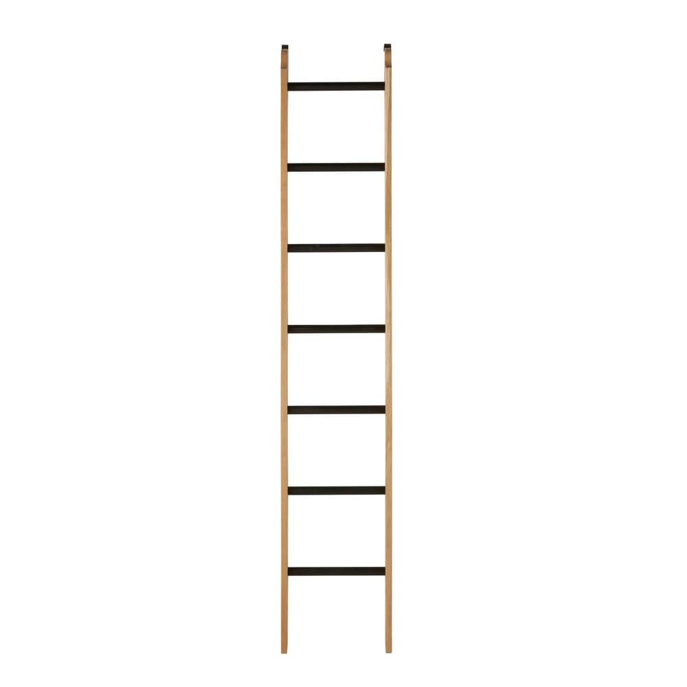 Beroemd Decoratieve ladder voor boekenkast van massief eikenhout #EG56