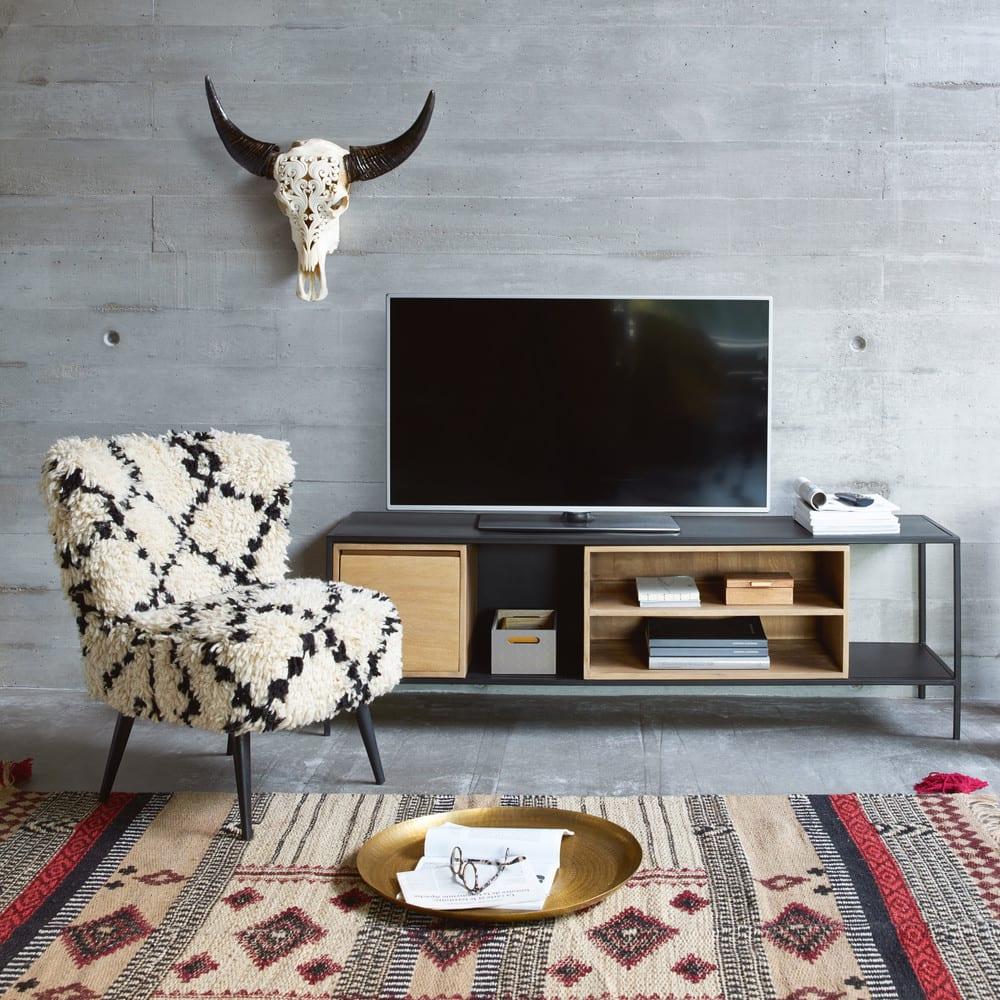 d coration murale buffle 60x65 ohio maisons du monde. Black Bedroom Furniture Sets. Home Design Ideas