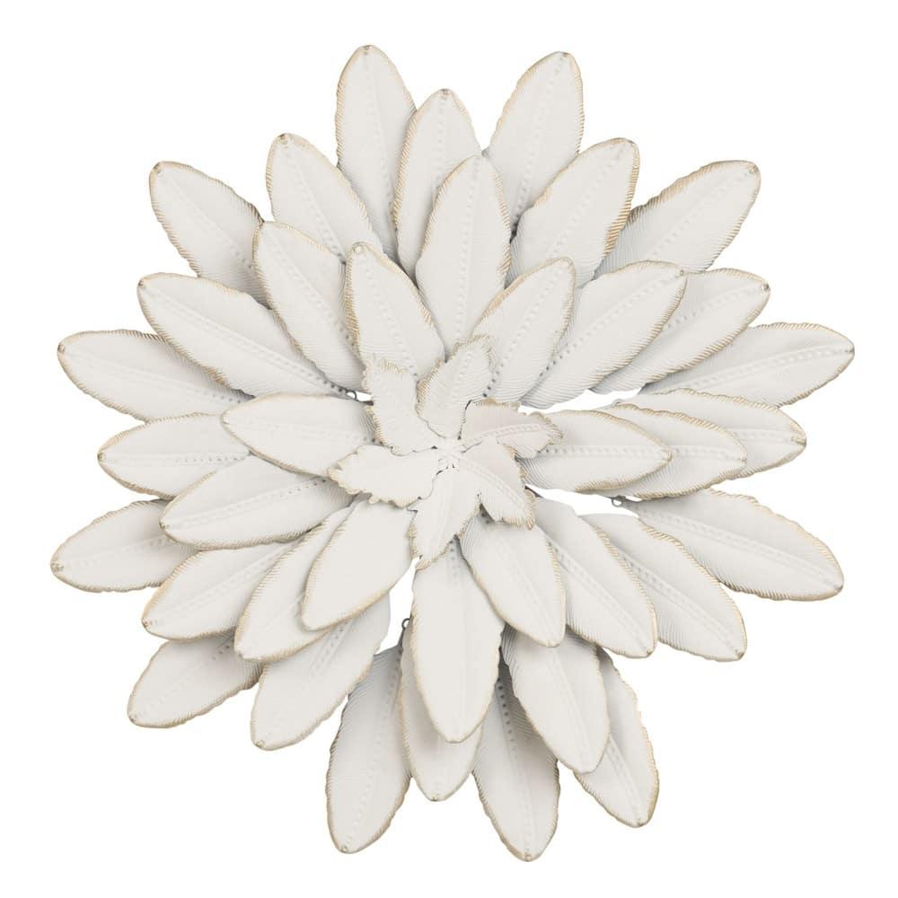 Decorazioni Da Parete In Metallo.Decorazione Da Parete Fiore In Metallo Bianco D 41 Cm Flower Oasis