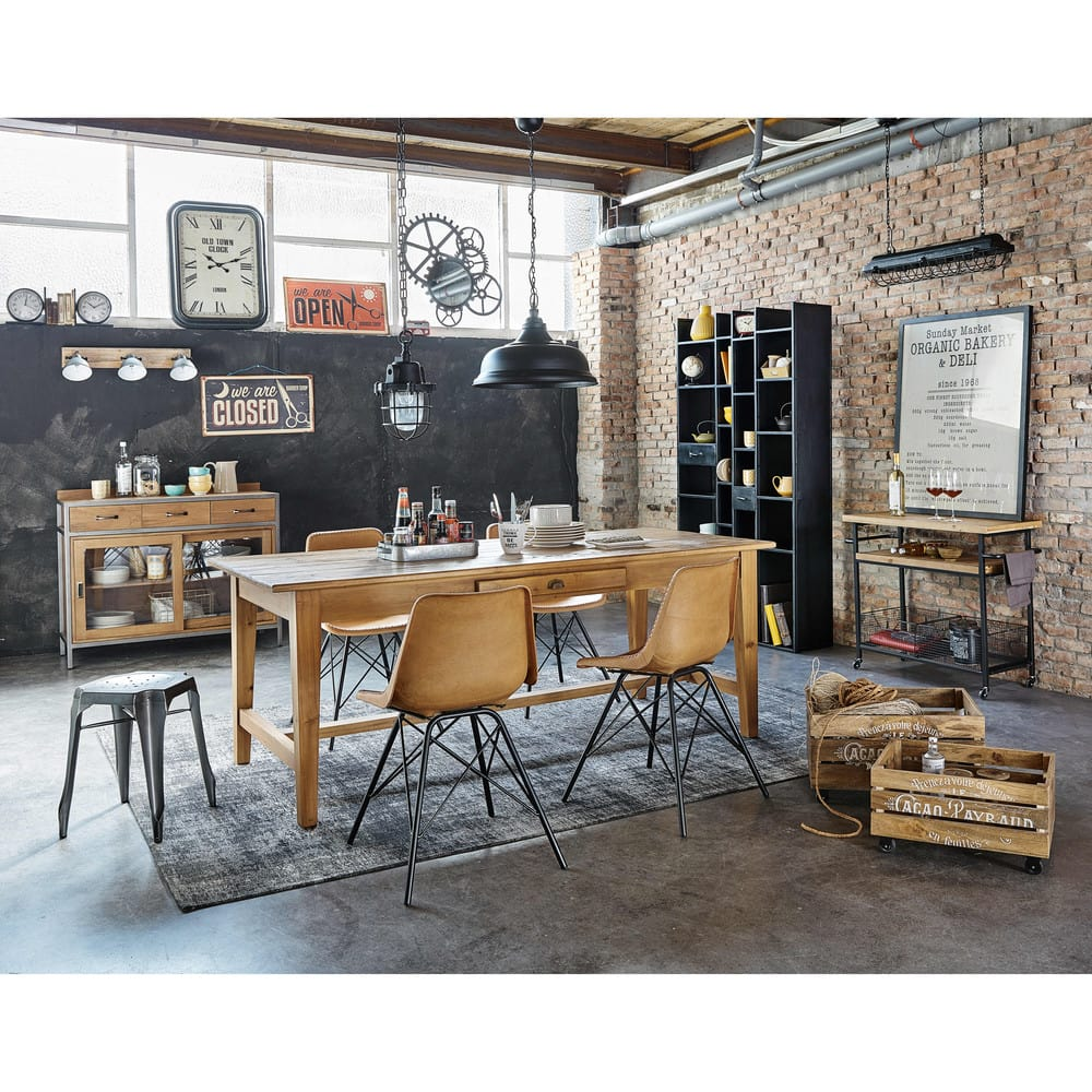 desserte en m tal noir bessie maisons du monde. Black Bedroom Furniture Sets. Home Design Ideas