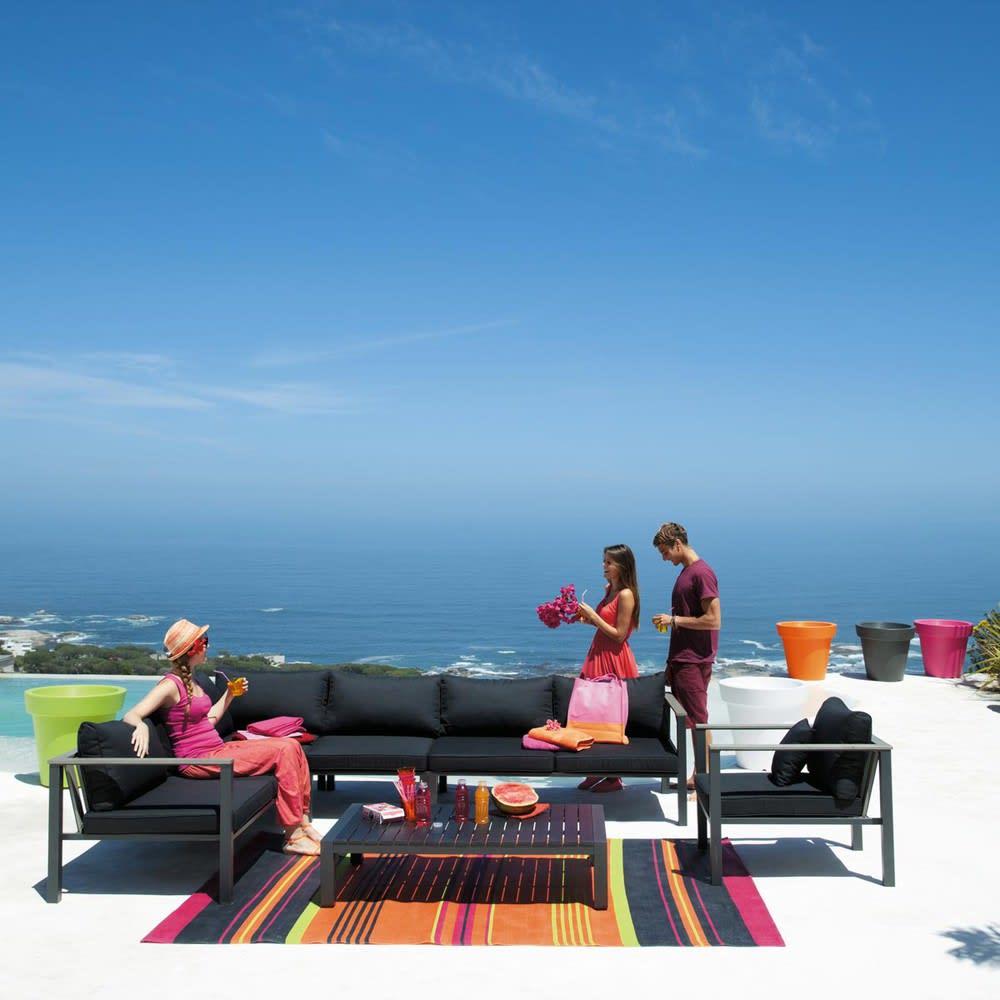 Divanetto color antracite da giardino con angolo sinistro for Angolo giardino