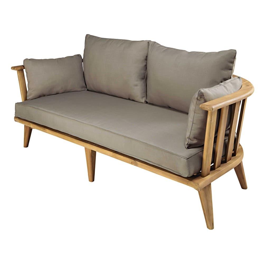 Divanetto da giardino 2/3 posti in legno massello di acacia e ...