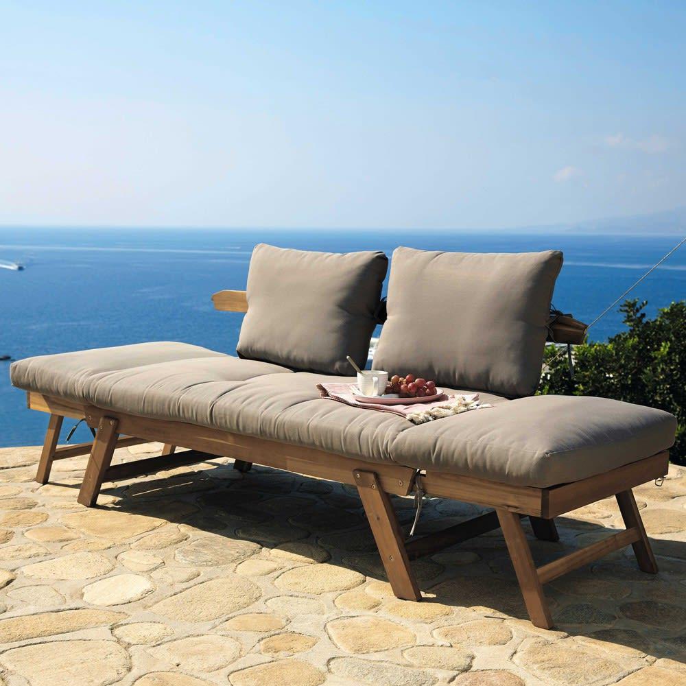 Divanetto da giardino modulabile in acacia 3 posti relax for Divanetti giardino