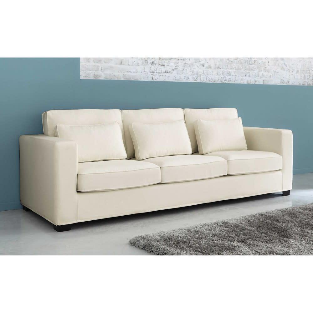 Divano in cotone beige grigio chiaro 4 posti milano for Regalo divano milano