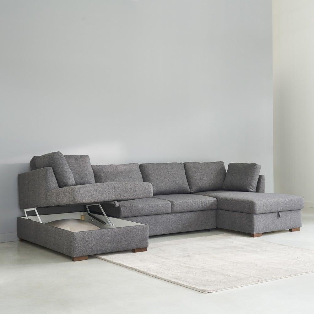 divano panoramico trasformabile 7 posti grigio maisons
