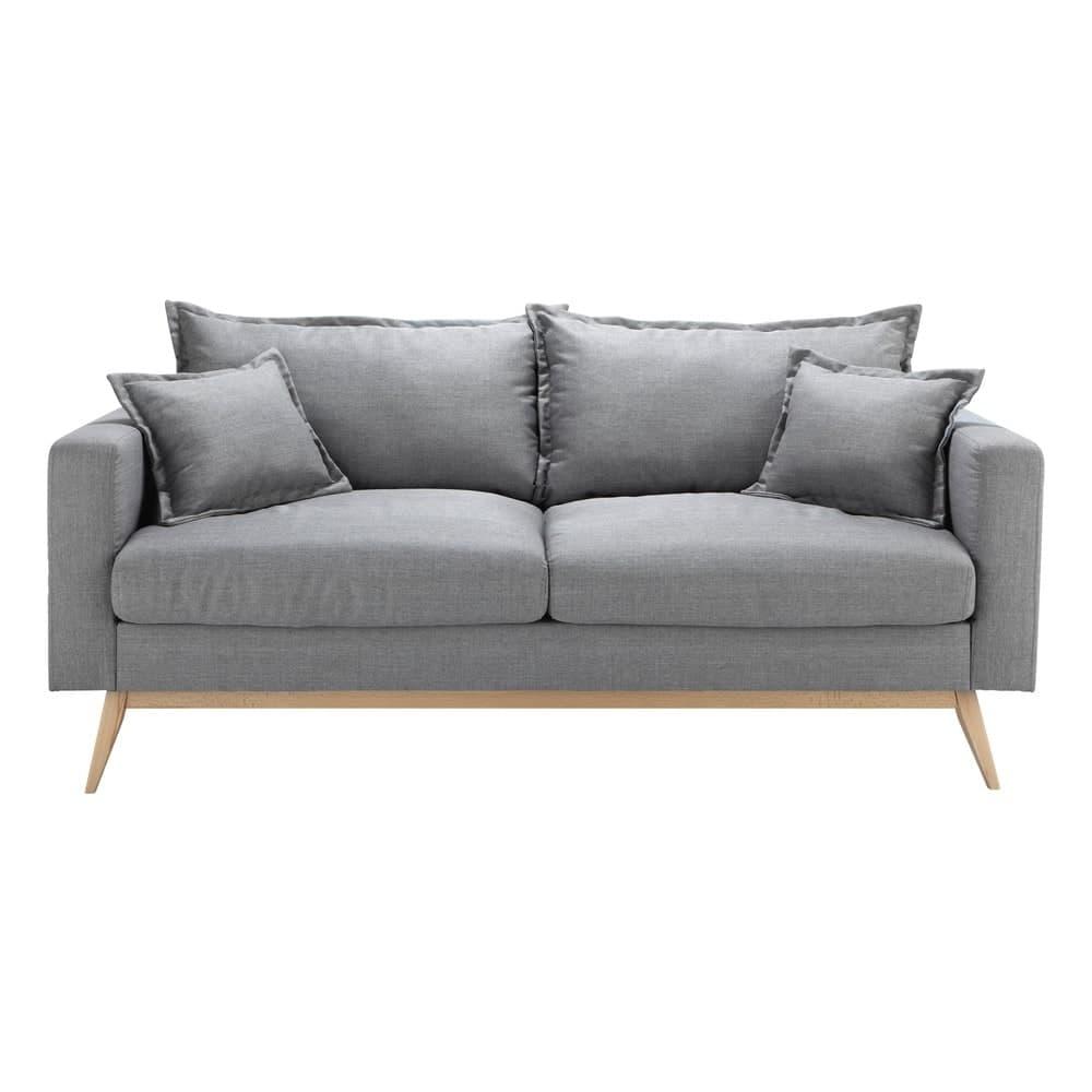divano scandinavo 3 posti grigio chiaro duke maisons du
