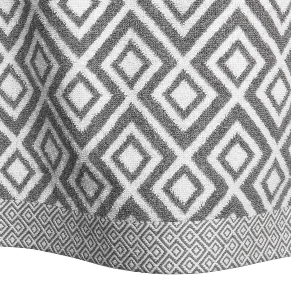 drap de bain en coton blanc motifs gris 100x150 graphic wild maisons du monde. Black Bedroom Furniture Sets. Home Design Ideas