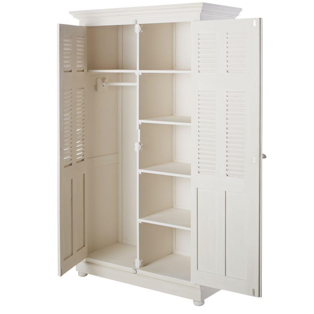 dressing en manguier blanc cass l 120 cm castille. Black Bedroom Furniture Sets. Home Design Ideas