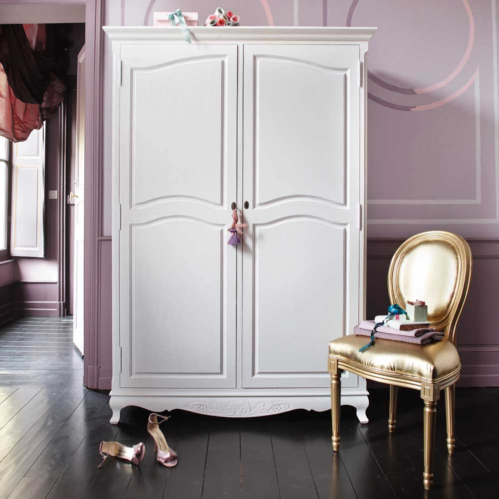 dressing en paulownia blanc jos phine maisons du monde. Black Bedroom Furniture Sets. Home Design Ideas