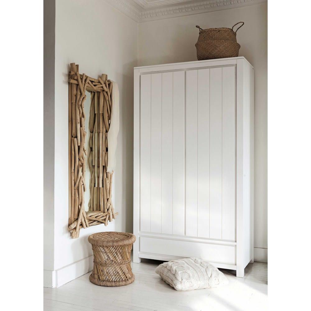 dressing en pin massif blanc white maisons du monde. Black Bedroom Furniture Sets. Home Design Ideas