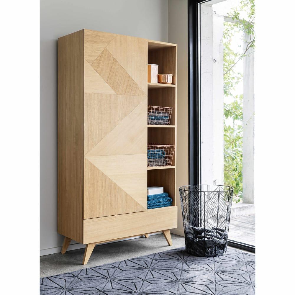 dressing vintage 1 porte 1 tiroir origami maisons du monde. Black Bedroom Furniture Sets. Home Design Ideas