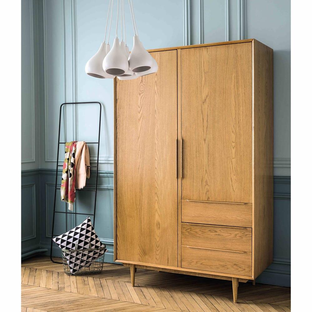 dressing vintage 2 portes 3 tiroirs portobello maisons. Black Bedroom Furniture Sets. Home Design Ideas