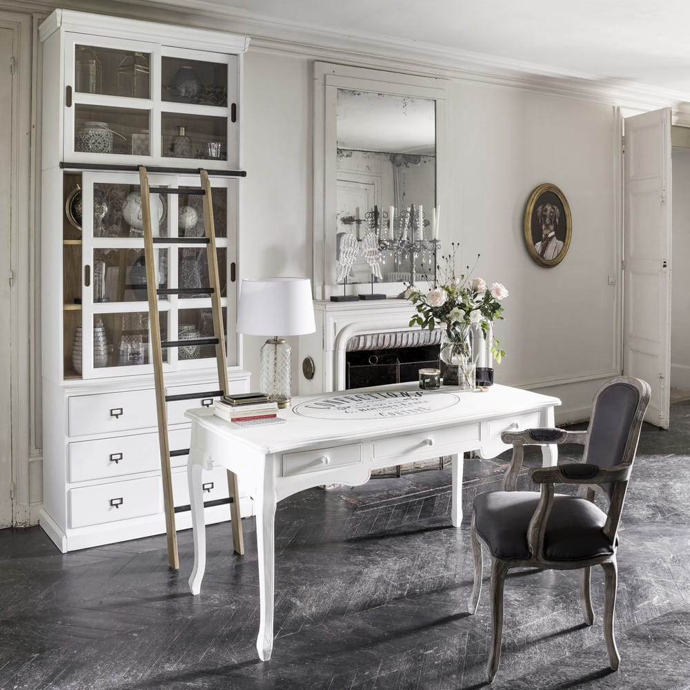 chelle de biblioth que d co en ch ne massif versailles. Black Bedroom Furniture Sets. Home Design Ideas