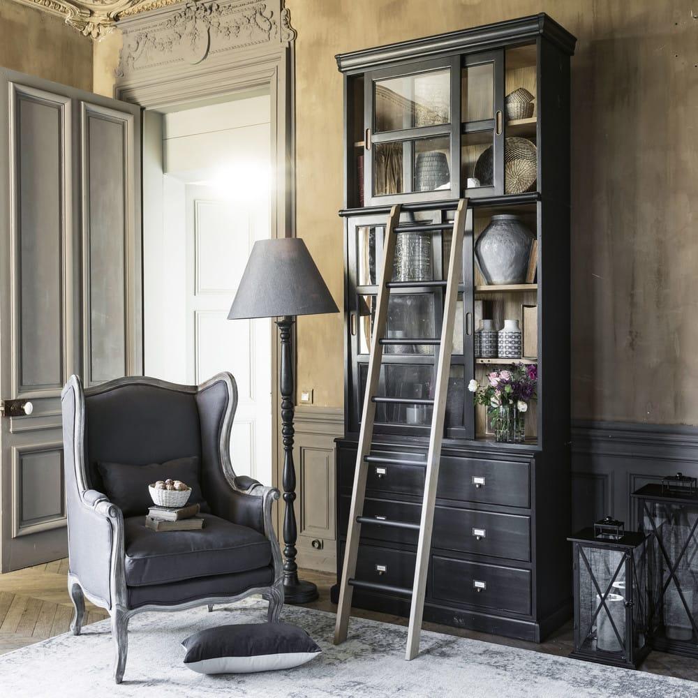 Echelle De Bibliotheque Deco En Chene Massif Versailles Maisons Du