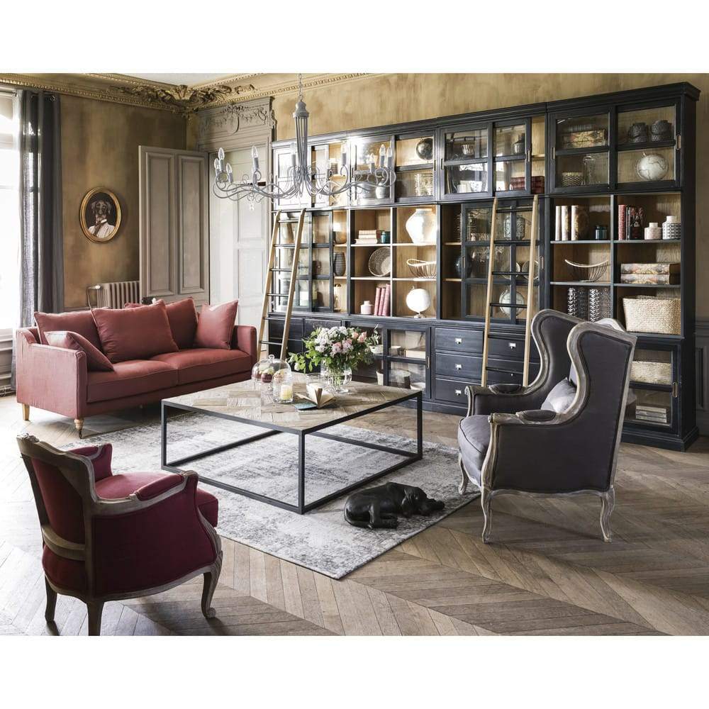 chelle de biblioth que d co en ch ne massif versailles. Black Bedroom Furniture Sets. Home Design Ideas