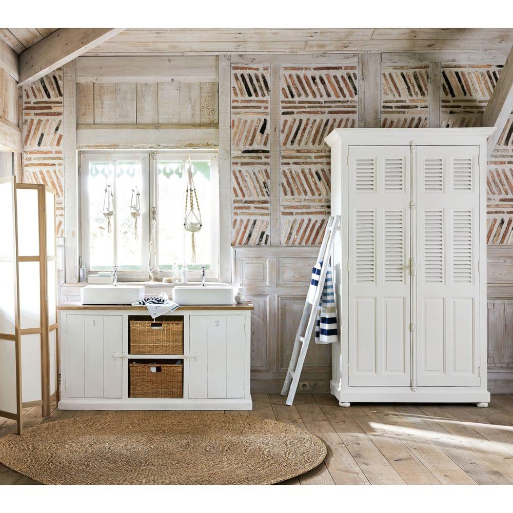 Echelle Decorative En Chene Blanc Ines Maisons Du Monde
