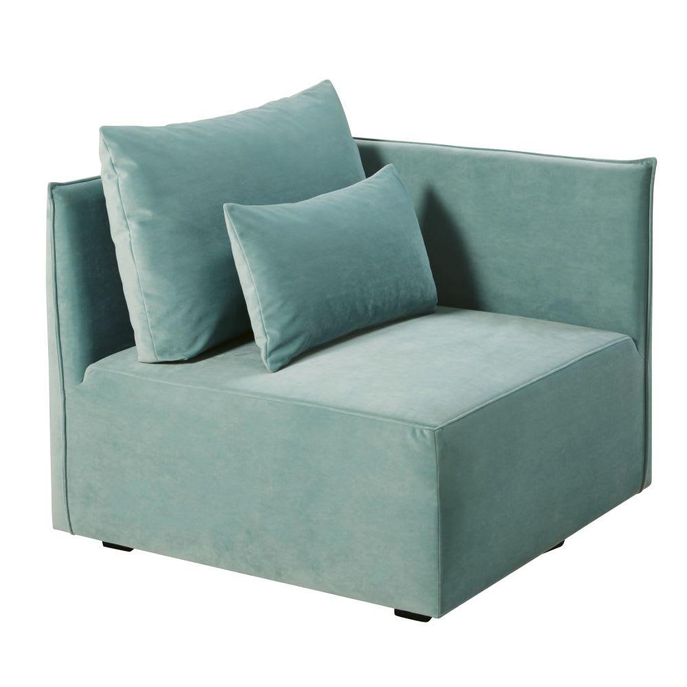 eckelement f r sofa mit samtbezug minzgr n floyd. Black Bedroom Furniture Sets. Home Design Ideas