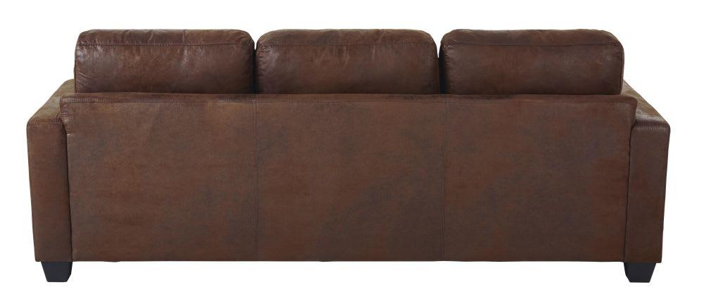 Ecksofa 3-/4-Sitzer aus Microsuede mit Ecke rechts, braun ...