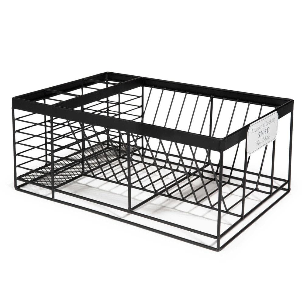 gouttoir vaisselle en m tal noir cooking store. Black Bedroom Furniture Sets. Home Design Ideas
