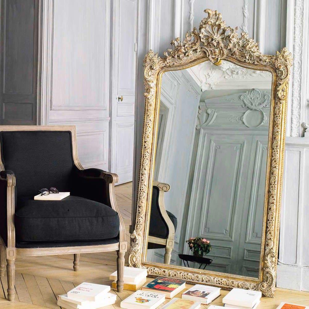 Espejo Dorado 85x153 Conservatoire Maisons Du Monde