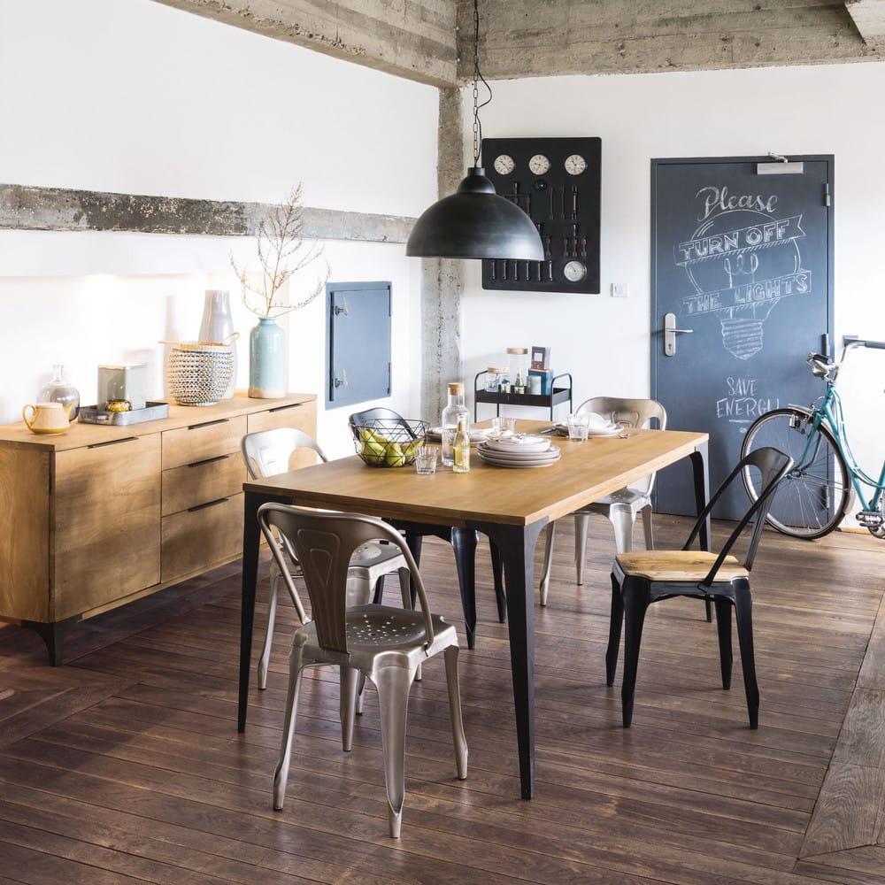 esstisch aus massivem mangoholz l180 metropolis maisons. Black Bedroom Furniture Sets. Home Design Ideas