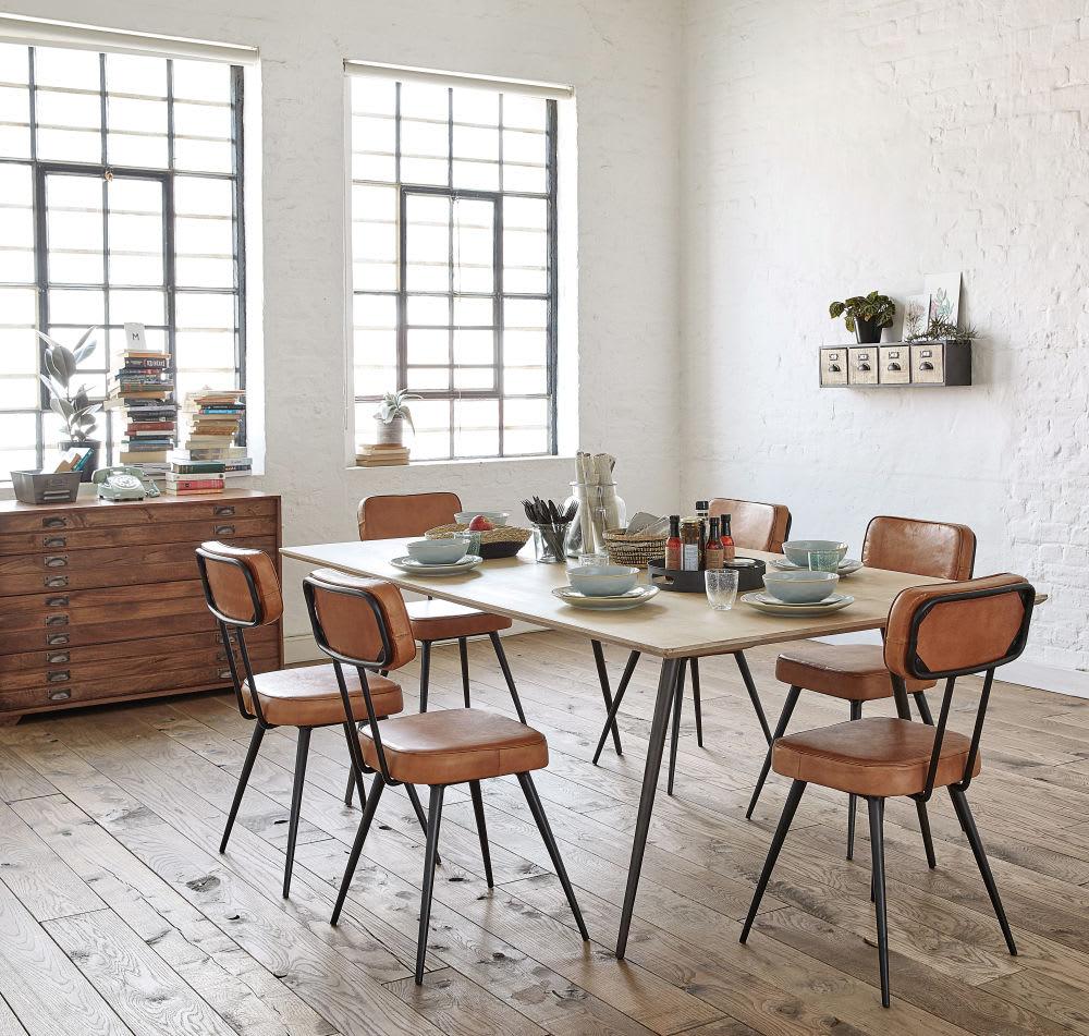 esstisch f r 8 10 personen aus mangoholz und metall l207. Black Bedroom Furniture Sets. Home Design Ideas