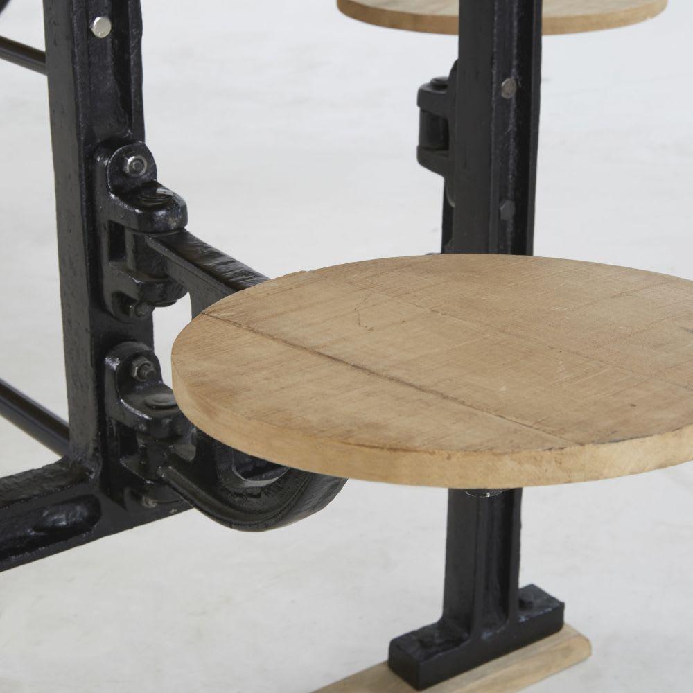 Esstisch für 8 Personen mit Hockern aus Mangoholz und ...