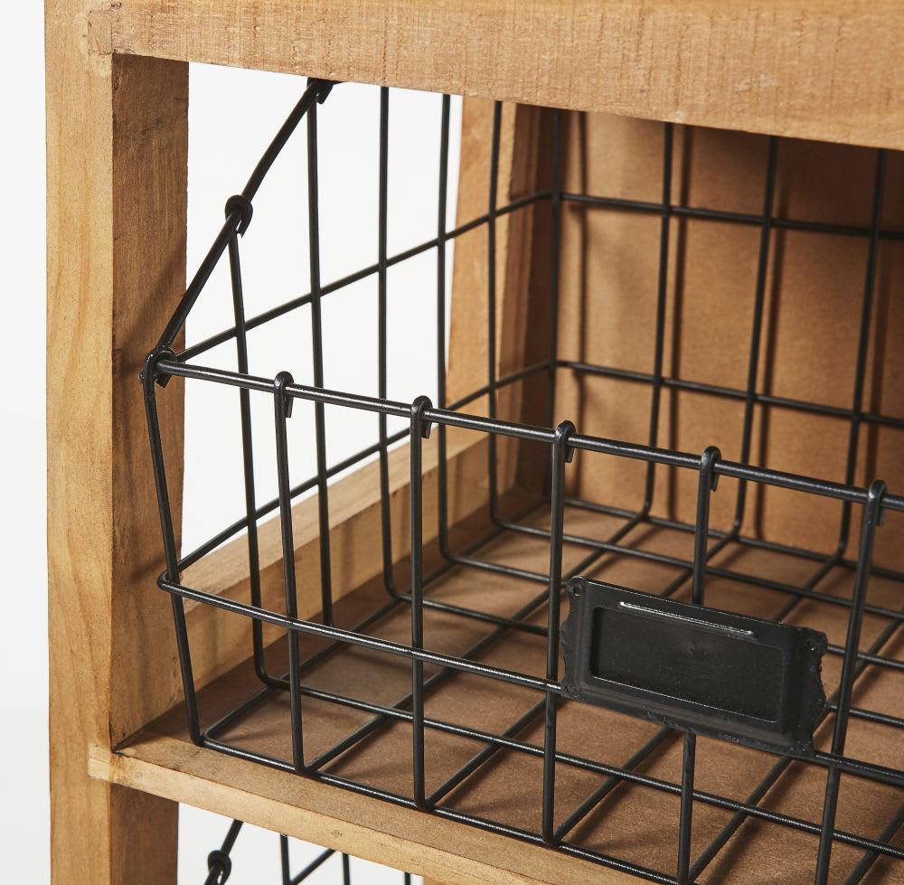 etag re 3 paniers en m tal noir world factory maisons du. Black Bedroom Furniture Sets. Home Design Ideas
