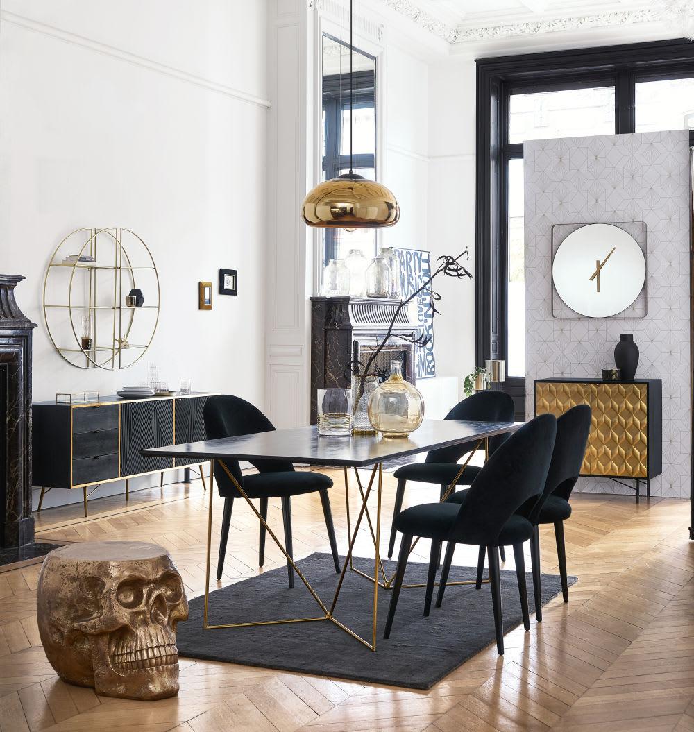 etag re en m tal dor et verre california maisons du monde. Black Bedroom Furniture Sets. Home Design Ideas