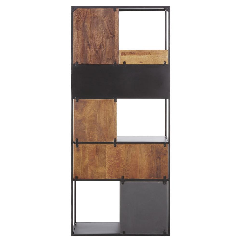 tag re en m tal et manguier grise orange arty maisons. Black Bedroom Furniture Sets. Home Design Ideas