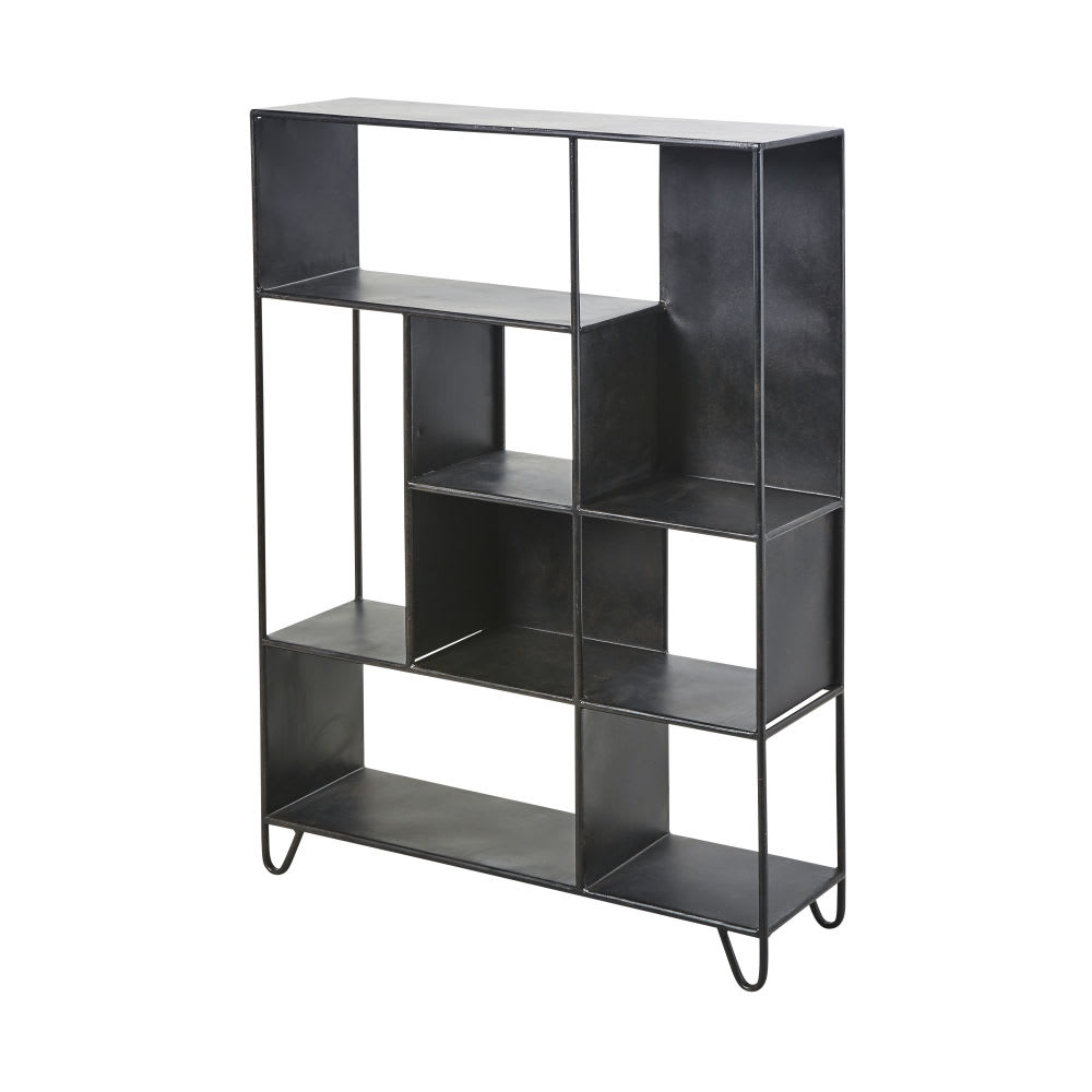 etag re en m tal noir hanovre maisons du monde. Black Bedroom Furniture Sets. Home Design Ideas