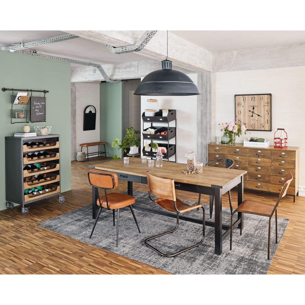 tag re en m tal noir epicerie maisons du monde. Black Bedroom Furniture Sets. Home Design Ideas