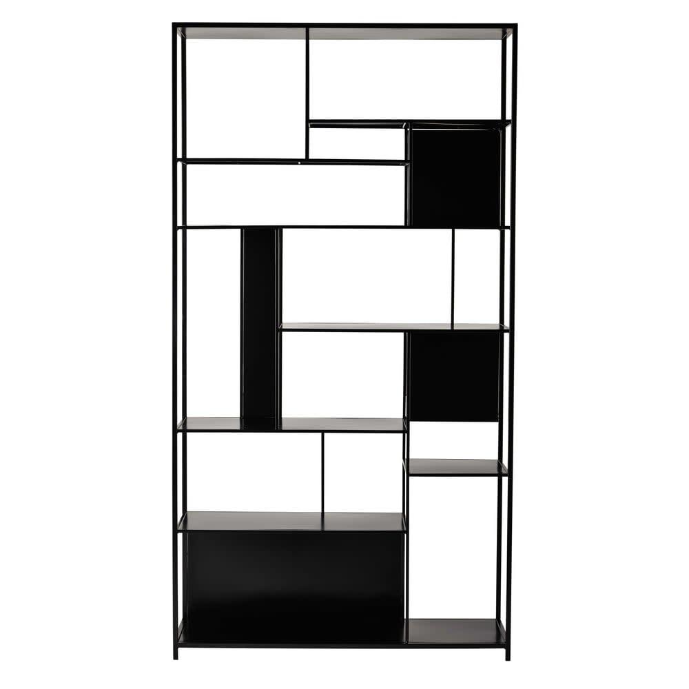 tag re en m tal noir simply maisons du monde. Black Bedroom Furniture Sets. Home Design Ideas