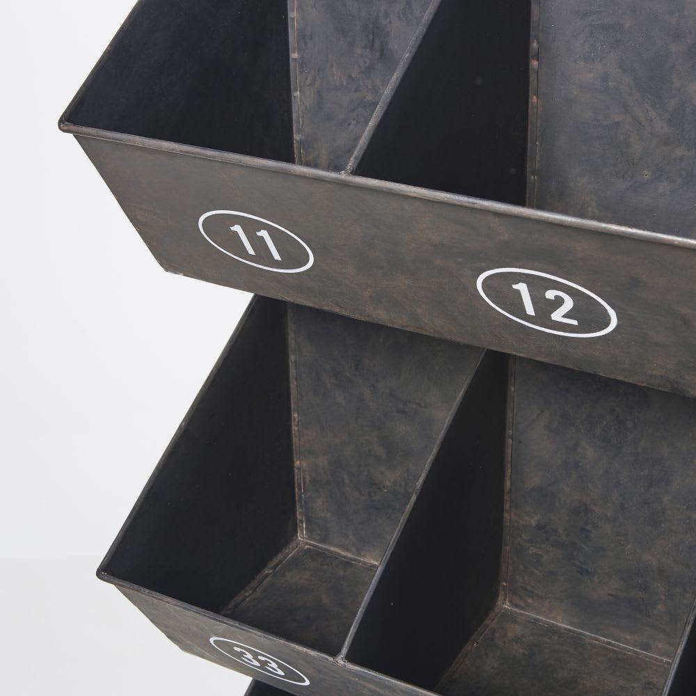 etag re en m tal noir avec ardoise spencer maisons du monde. Black Bedroom Furniture Sets. Home Design Ideas
