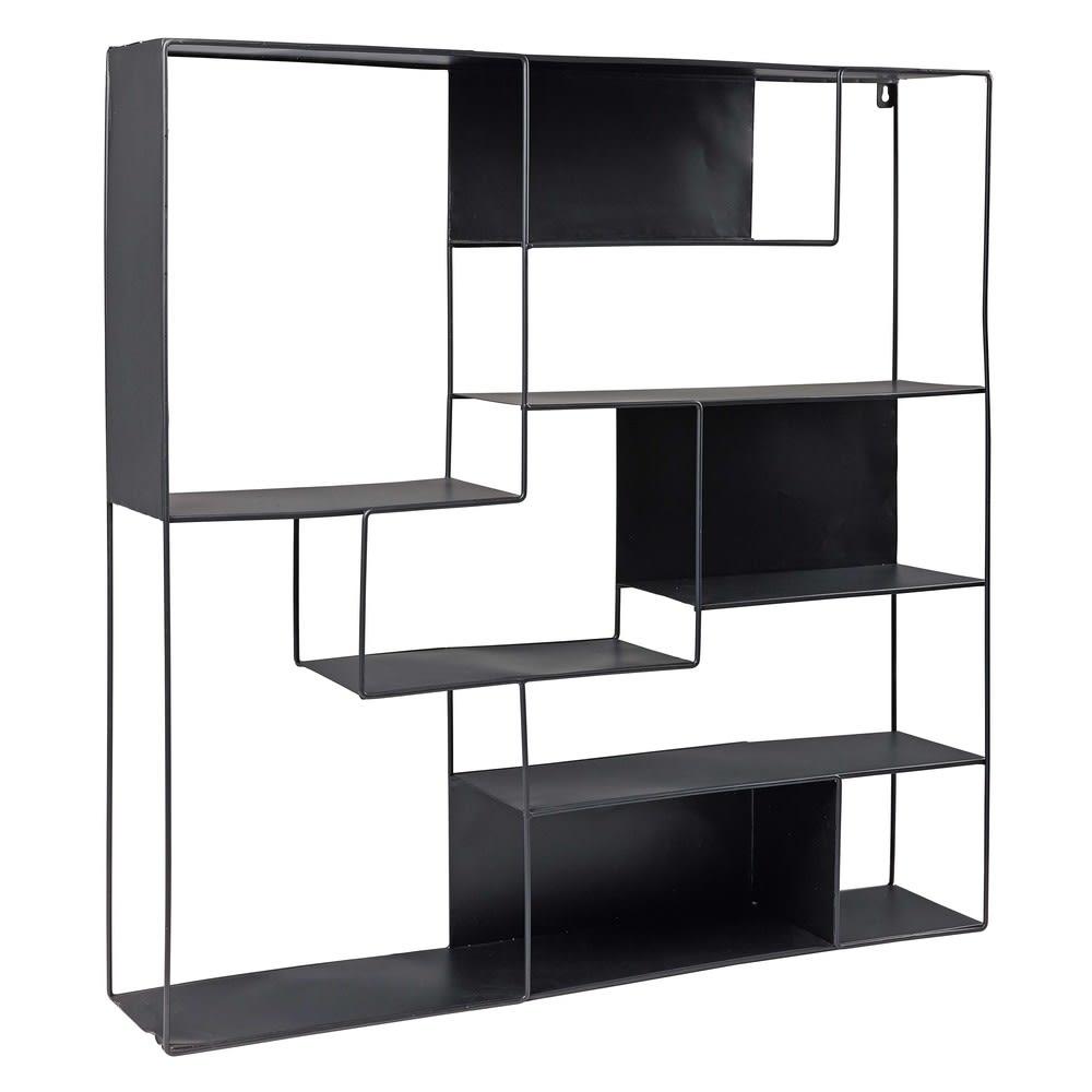 etag re en m tal noir loudmi maisons du monde. Black Bedroom Furniture Sets. Home Design Ideas