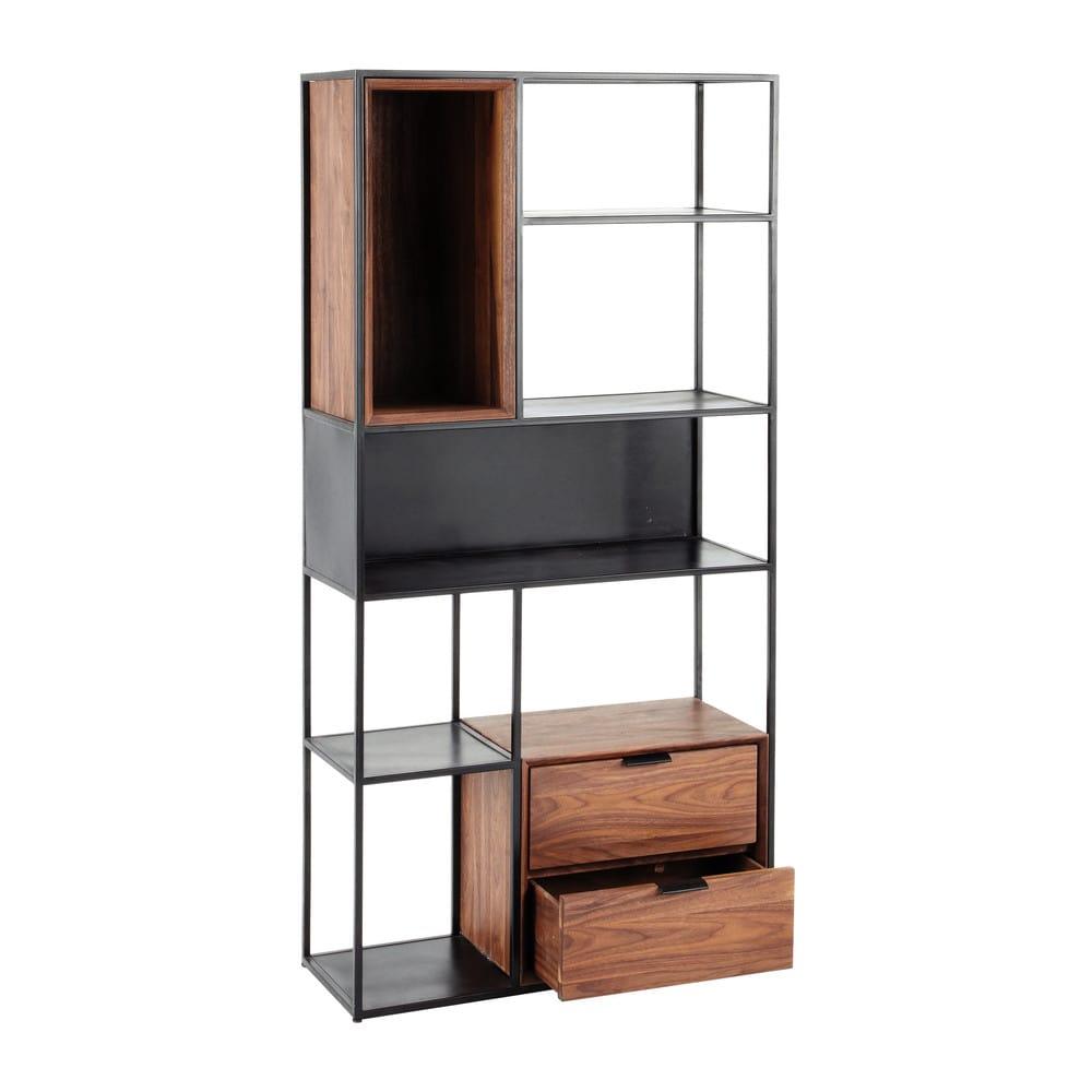 tag re indus en m tal noir berkley maisons du monde. Black Bedroom Furniture Sets. Home Design Ideas
