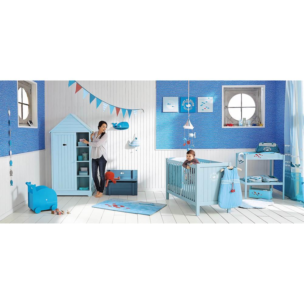 étagère Murale Baleine Bleue H 19 Cm Willy Maisons Du Monde