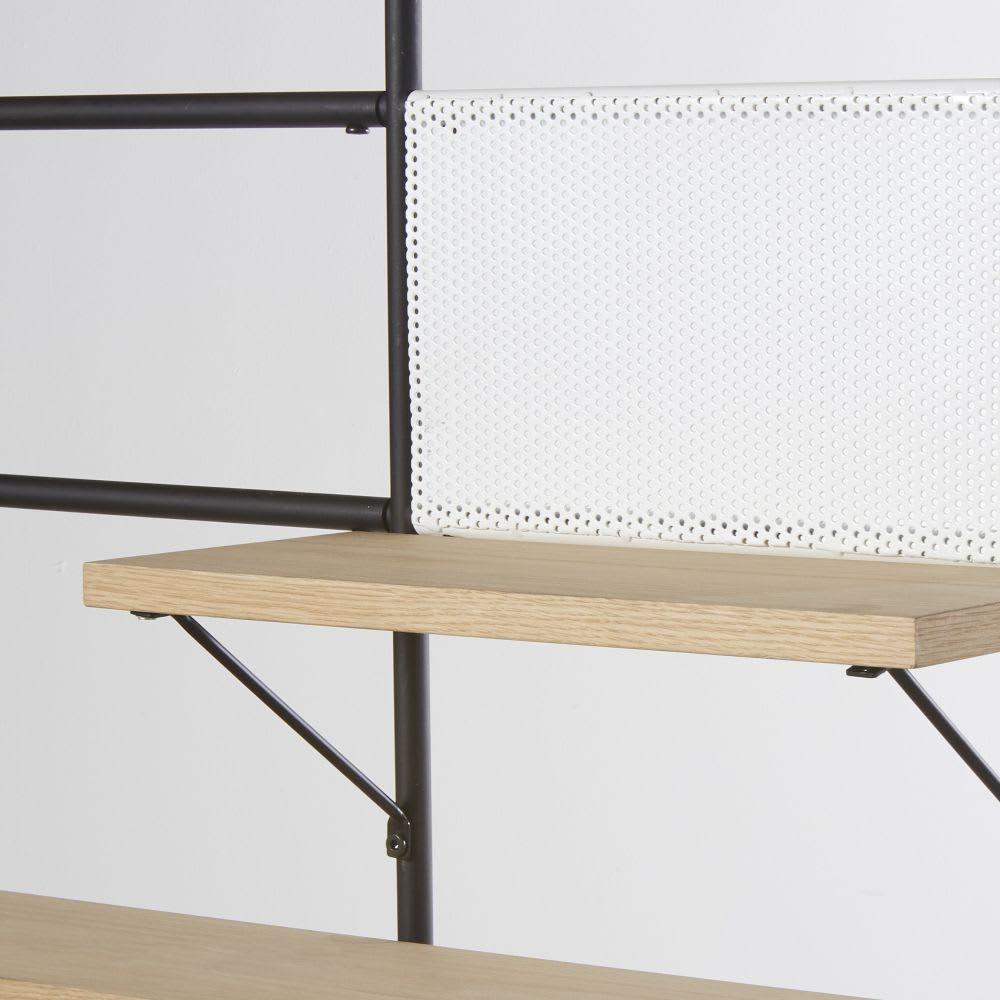 etag re murale en m tal noir workshop maisons du monde. Black Bedroom Furniture Sets. Home Design Ideas