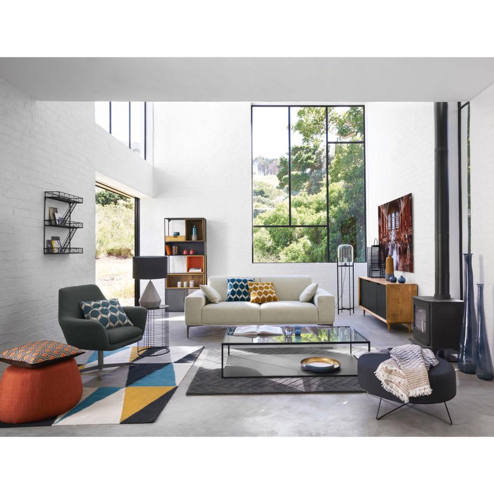 tag re murale en m tal noire h 70 cm darren maisons du. Black Bedroom Furniture Sets. Home Design Ideas