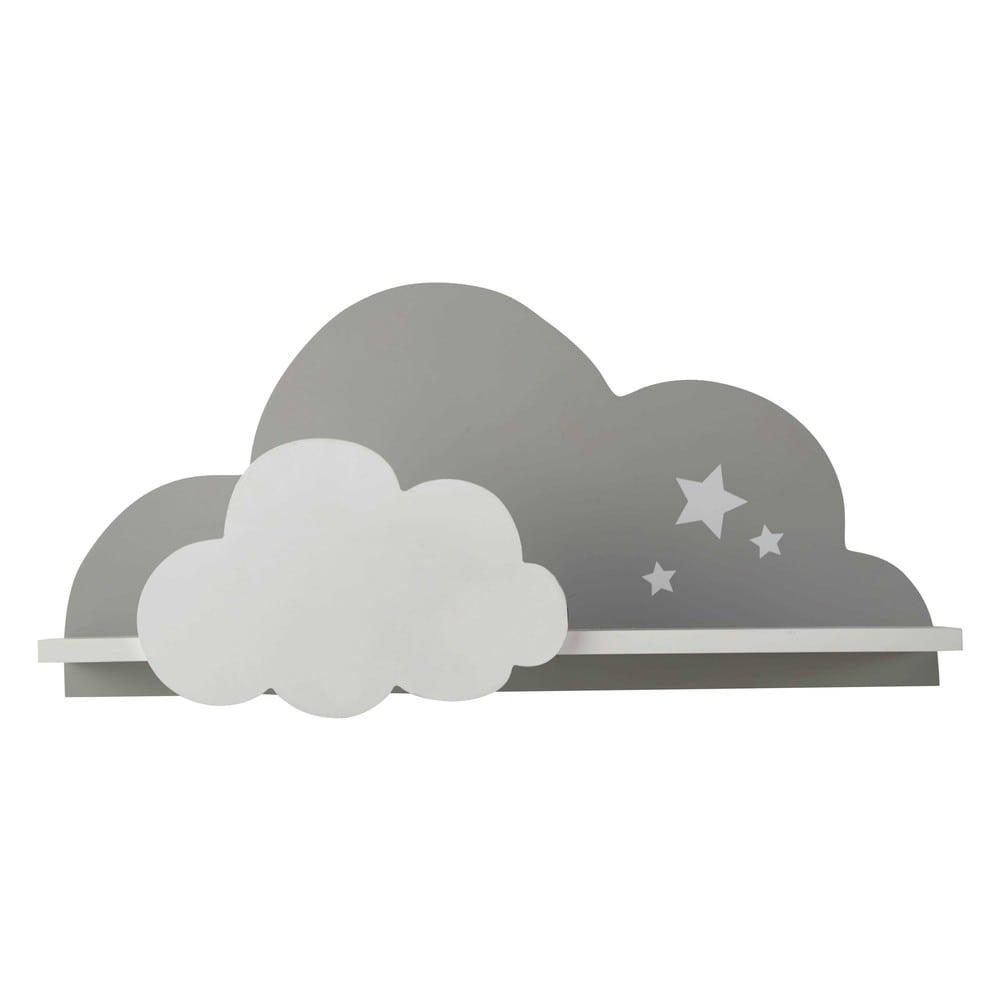 Étagère murale nuage blanc/gris 24 x 50 cm Songe   Maisons du Monde