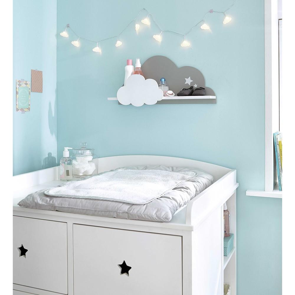 tag re murale nuage blanche et grise songe maisons du monde. Black Bedroom Furniture Sets. Home Design Ideas