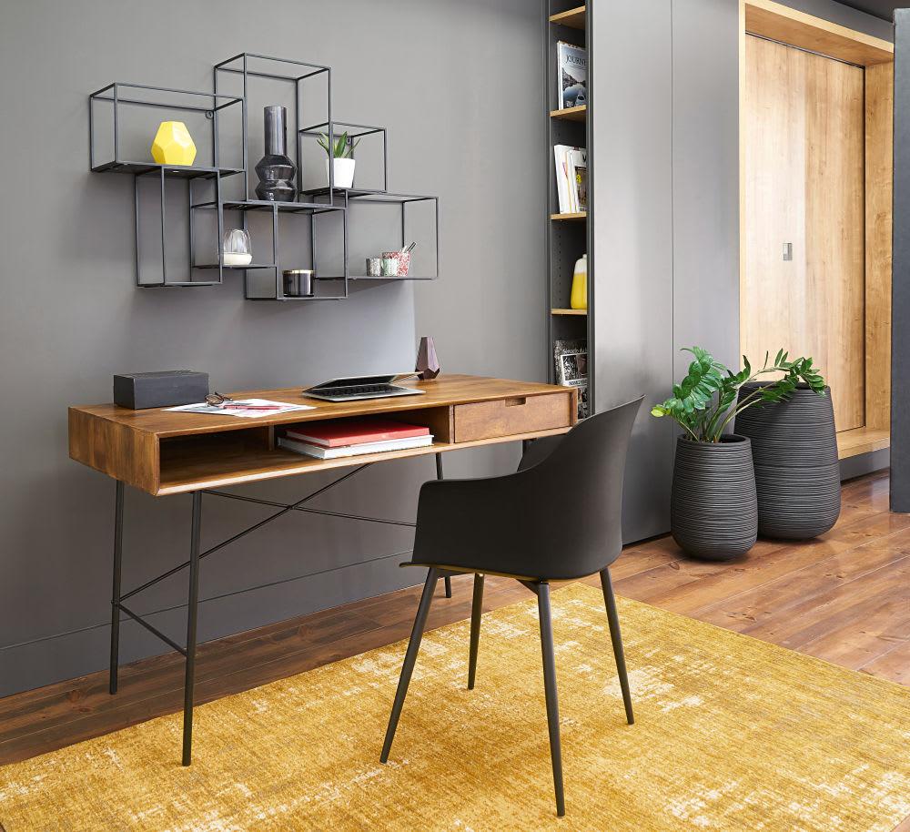 etag res cubes en m tal noir cubic maisons du monde. Black Bedroom Furniture Sets. Home Design Ideas