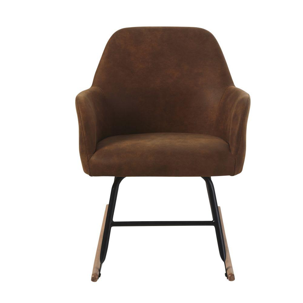 fauteuil bascule en su dine marron rocker maisons du monde. Black Bedroom Furniture Sets. Home Design Ideas